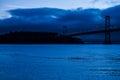 Oakland bridge blue morning open san Royalty Free Stock Photo