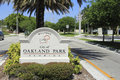 Oakland Park, Florida Welcome Sign Royalty Free Stock Photo