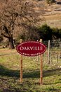 Oakville AVA appelation Royalty Free Stock Photo