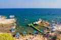 Oasis beach near faliraki rhodes greece – august nd people enjoying sunny weather on a busy Royalty Free Stock Image