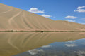 Oasis desert beautiful in the Stock Photography