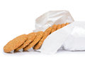 Oat biscuit cookie on white background Stock Photos