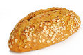 Oat bread on white background Royalty Free Stock Photo