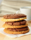 Oat cookies and Chocolate cookies Royalty Free Stock Image