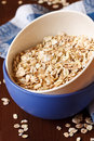 Oat flakes in a bowl close up Royalty Free Stock Photography