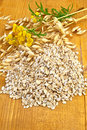 Oat flakes with tansy Stock Image
