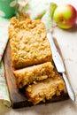 Oatmeal Apple Coffee Cake Royalty Free Stock Photo