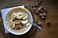 Oatmeal with bananas Royalty Free Stock Photo