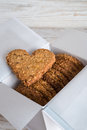 Oatmeal biscuits a fresh and tasty Stock Photography