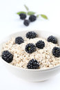 Oatmeal with blackberries Stock Photography