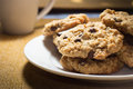 Oatmeal Chocolate Chip Cookies Royalty Free Stock Photo