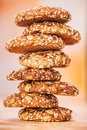 Oatmeal cookies with a splash Stock Photography