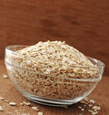 Oatmeal In Glass Bowl Stock Photos