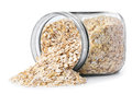 Oatmeal in glass jar Royalty Free Stock Photo