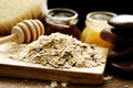 Oatmeal and honey Royalty Free Stock Image