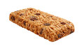 Oatmeal Raisin Cereal Bar Isolated on white Royalty Free Stock Images