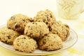Oatmeal raisin chocolate chip cookies Royalty Free Stock Photo