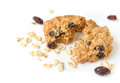 Oatmeal raisin cookies on white background Royalty Free Stock Photo