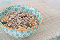 Oats with nuts and seeds Royalty Free Stock Photo