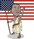 Obama as redeemer with flag Royalty Free Stock Images