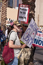 Obama Demonstration Supporters Royalty Free Stock Images