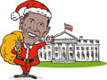 Obama Santa Claus white house