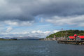 Oban from the harbour Royalty Free Stock Photo