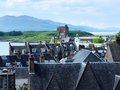 Oban in scotland panorama rooftops the town of Stock Photo
