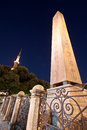 Obelisk and The Blue Mosque Minaret Royalty Free Stock Photo