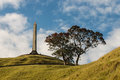 Obelisk at One Tree Hill monument in Auckland Royalty Free Stock Photo