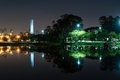 Obelisk sao paulo night view of the of ibirapuera park Stock Images