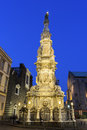 Obelisk to the immaculate virgin in naples of italy Stock Photos