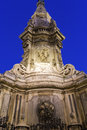 Obelisk to the immaculate virgin in naples of italy Stock Photography