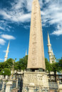 Obelisk of Tutmoses III in Istanbul Royalty Free Stock Photo