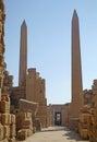 Obelisks at the Temple of Karnak Stock Image