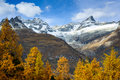 Obergabelhorn and Zinalrothorn Royalty Free Stock Image