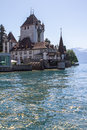 Oberhofen castle on the lake Thun in Switzerland Royalty Free Stock Photo