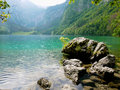 Obersee lake berchtesgaden germany clear Stock Image