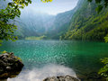 Obersee lake berchtesgaden germany clear Stock Photos