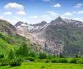 Oberwald swiss view of the furkapass and rhone glacier Royalty Free Stock Photos