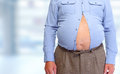 Obese man abdomen. Royalty Free Stock Photo