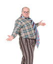 Obese man with an outrageous fashion sense Royalty Free Stock Photos
