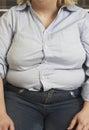 Obese Woman Sitting Stock Photo