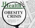 Obesity crisis Royalty Free Stock Photo