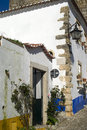 Obidos portugal picturesque village of in Royalty Free Stock Photo