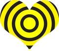 Obiettivo del cuore Immagine Stock