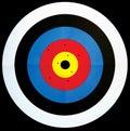 Obiettivo di tiro all'arco Fotografie Stock Libere da Diritti