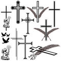Obituary symbols Stock Image
