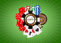 Object casino illustration of with green background Stock Photos