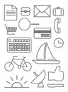 Object icons with white background Royalty Free Stock Photo